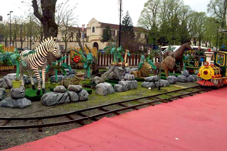 trenino safari animali
