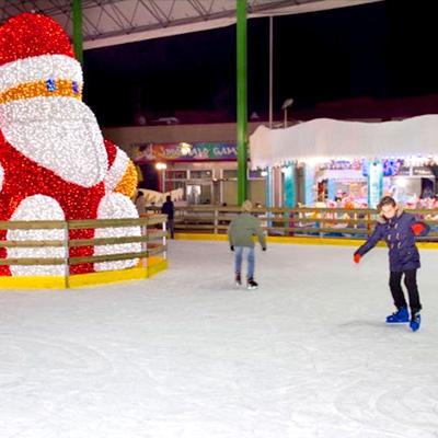 pista pattinaggio sul ghiaccio